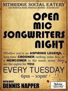 The Ridge Songwriters night